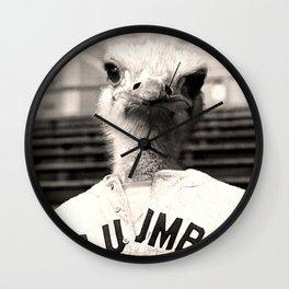 Baseball Ostrich Wall Clock