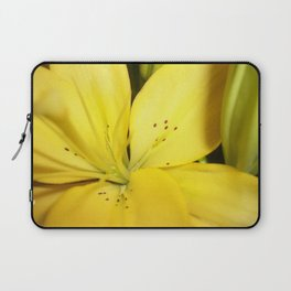 Yellow Tiger Lily Laptop Sleeve