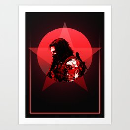 Winter Soldier 80's Alternative Character Poster Art Print