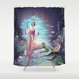 Uzume no Mikoto - By Lunart Shower Curtain