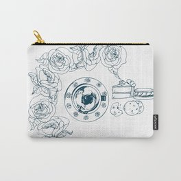 Coffee and Flowers Carry-All Pouch