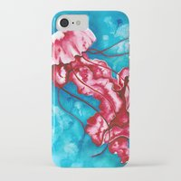 jellyfish iPhone & iPod Cases featuring Jellyfish by missfortunetattoo