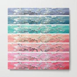 Vincent Van Gogh : Almond Blossoms Rainbow Panel ART Metal Print