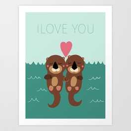 I Love You Art Print