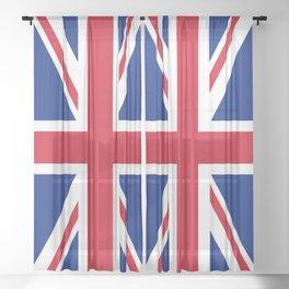 UK Flag Union Jack Sheer Curtain