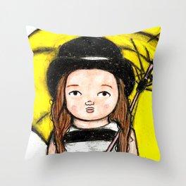 LITTLE ENITH: HURRICANE KATRINA SURVIVOR Throw Pillow