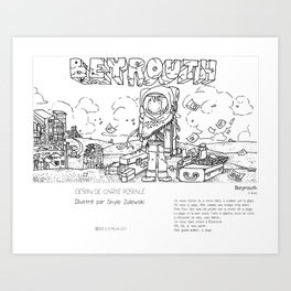 """Beyrouth"" en Mots & Image (French touch) by Shyle Zalewski Art Print"