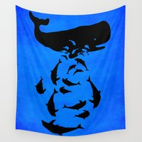 under the sea Wall Tapestries featuring Under the sea by Durro