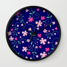Elizabeth's flowers Wall Clock