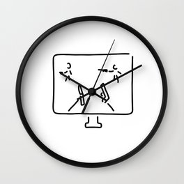 egoshooter computer game shooting game Wall Clock