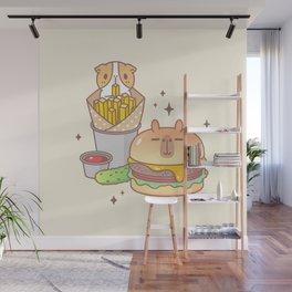 Guinea pig and Capybara Cheeseburger, Bubu and Moonch Wall Mural