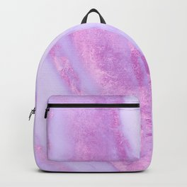 Pink Marble - Shimmery Magenta Gold Marble Metallic Backpack