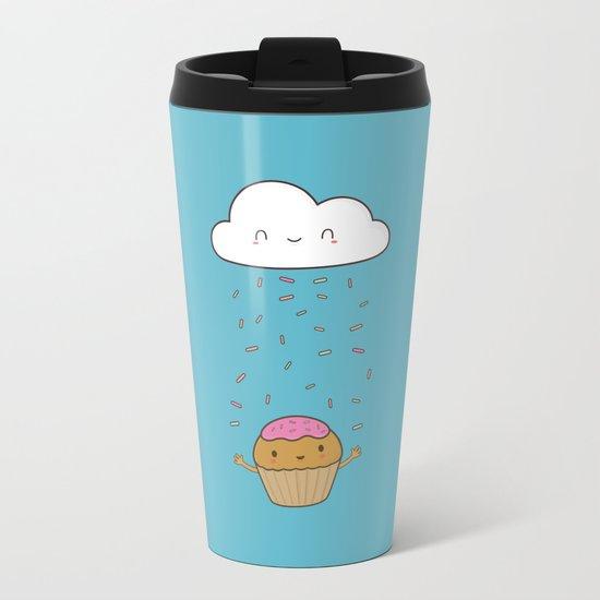 Kawaii Cute Cupcake Sprinkles Metal Travel Mug