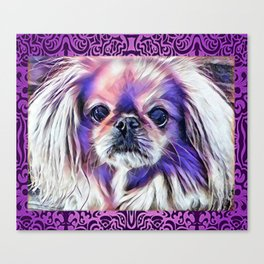Peak in purple Canvas Print
