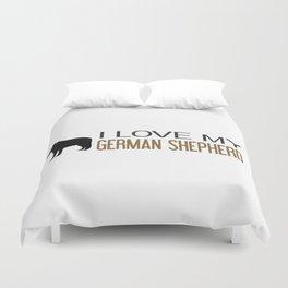 I Love My German Shepherd Duvet Cover