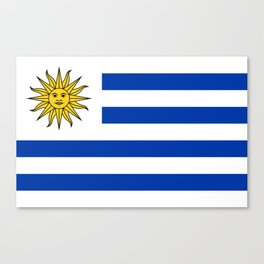 flag of Uruguay-Uruguyan,montevideo,spanish,america,latine,Salto,south america,paysandu,costa,sun,be Canvas Print
