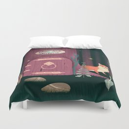 Sorcerer Of Woodland Charms Potions Spells And Fortunes Duvet Cover