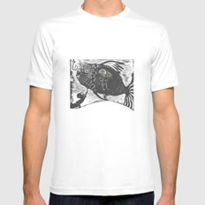 Hungry Fish MEDIUM Mens Fitted Tee White