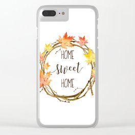 Home Sweet Home Clear iPhone Case