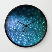 bisexual Wall Clocks featuring Foam on the sea by Better HOME