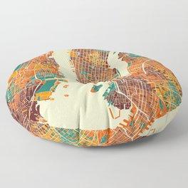 New York Mosaic Map #2 Floor Pillow