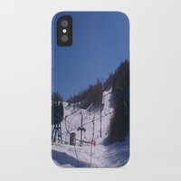 skiing iPhone & iPod Cases featuring skiing place by westchestrian_art