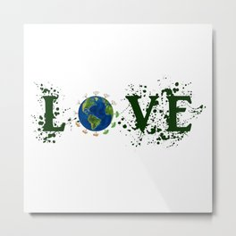 Earth Day Love Mother Earth Metal Print