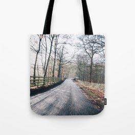winter lanes in egland Tote Bag