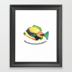H is for Humuhumunukunukuapua'a Framed Art Print