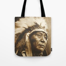 Chief Running Antelope - Native American Sioux Leader Tote Bag