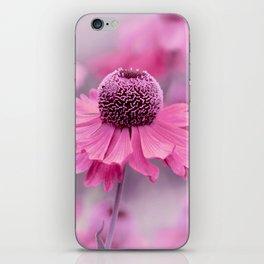 Pink flower macro 066 iPhone Skin