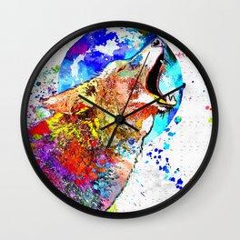 Coyote Grunge Wall Clock