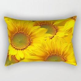 Yellow Mellow Sunflower Bouquet #decor #society6 #buyart Rectangular Pillow