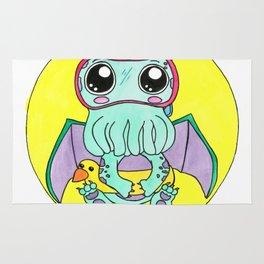 Just keep swimming, Cute-thulu! Rug