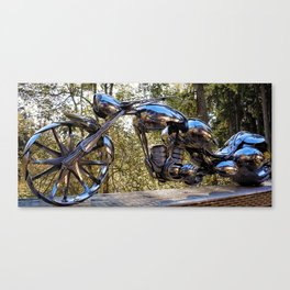 The Wasp Full Length- Spoon Motorcycle by James Rice Canvas Print