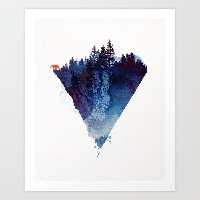 Near To The Edge Art Print By Astronaut Society6