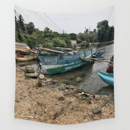 Harbor in Trinco Wall Tapestry