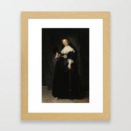 Oopjen Coppit - Rembrandt van Rijn (1634) Framed Art Print