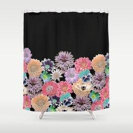 Pink Rose Floral Shower Curtain