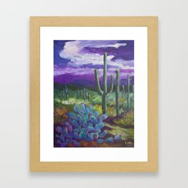 Dusk in the Desert Framed Art Print