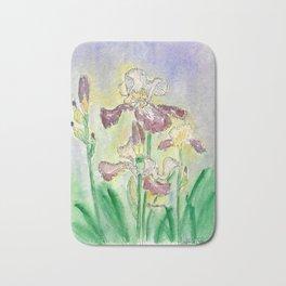 """Iris plant (Iris barbata elatior """"Provencal"""") Bath Mat"""