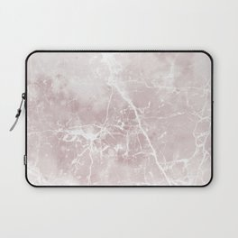 Vintage elegant brown white rustic marble Laptop Sleeve