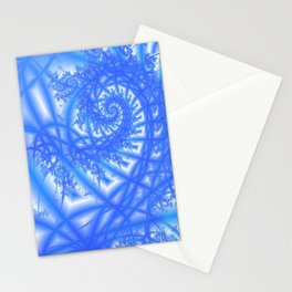 Venetian Lace in Light and Medium Blues Stationery Cards