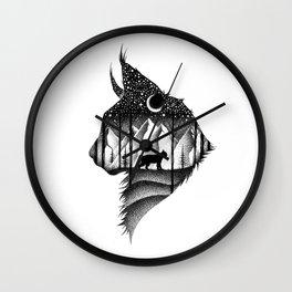 THE LYNX & THE MOON Wall Clock