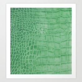 Croco leather effect - green Art Print
