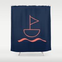 sail Shower Curtains featuring sail by gzm_guvenc