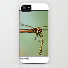 The Spanish Red Dragon Fly iPhone Case