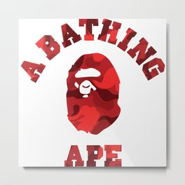 A Bathing Ape Red Metal Print