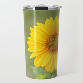 Sunflower, nature photography, single flower with no fitler Travel Mug