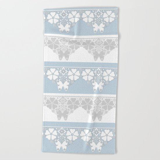 The blue lace . Beach Towel